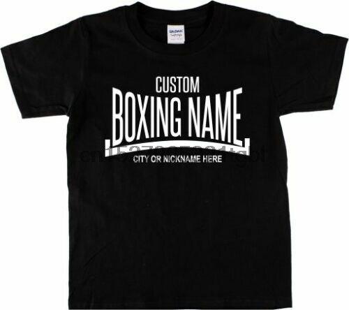 Camiseta para hacer boxeo personalizado-Añade tu nombre de boxeo Retro varios colores nuevo estilo de verano moda coreana camisetas