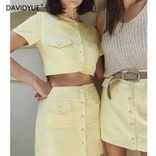 2018 femmes deux pièces ensemble printemps à manches courtes plaid t-shirt + côté rayure cordon long pantalon décontracté femmes survêtement ensemble