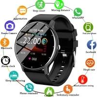 2021 new smart watch men women full touch screen sport fitness watch ip67 waterproof bluetooth for android ios smartwatch men