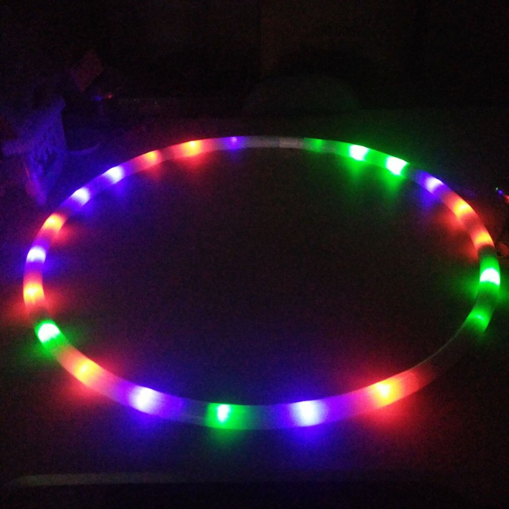 Colorful LED Fitness Circle Performing Arts Abdominal Fat Loss Light Fitness Crossfit Foldable Sport Hoop Gym Fitness Equipments