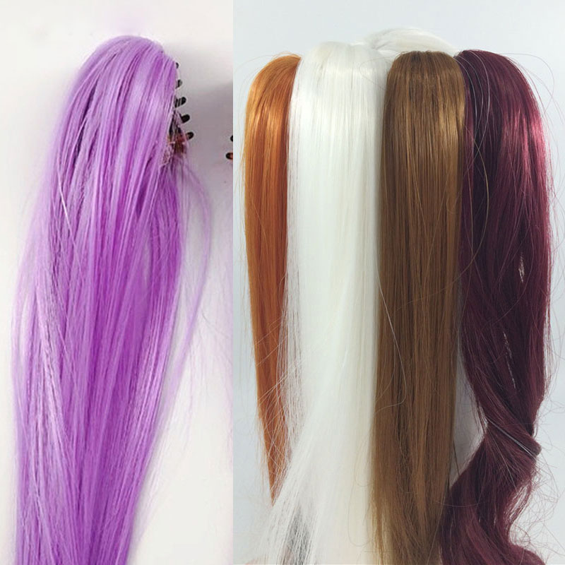 Muñeca BJD SD, peluca de muñeca, coleta de pelo de Tigre, 20cm, 30cm, 40cm, cola de caballo, accesorios de coleta muñeca única