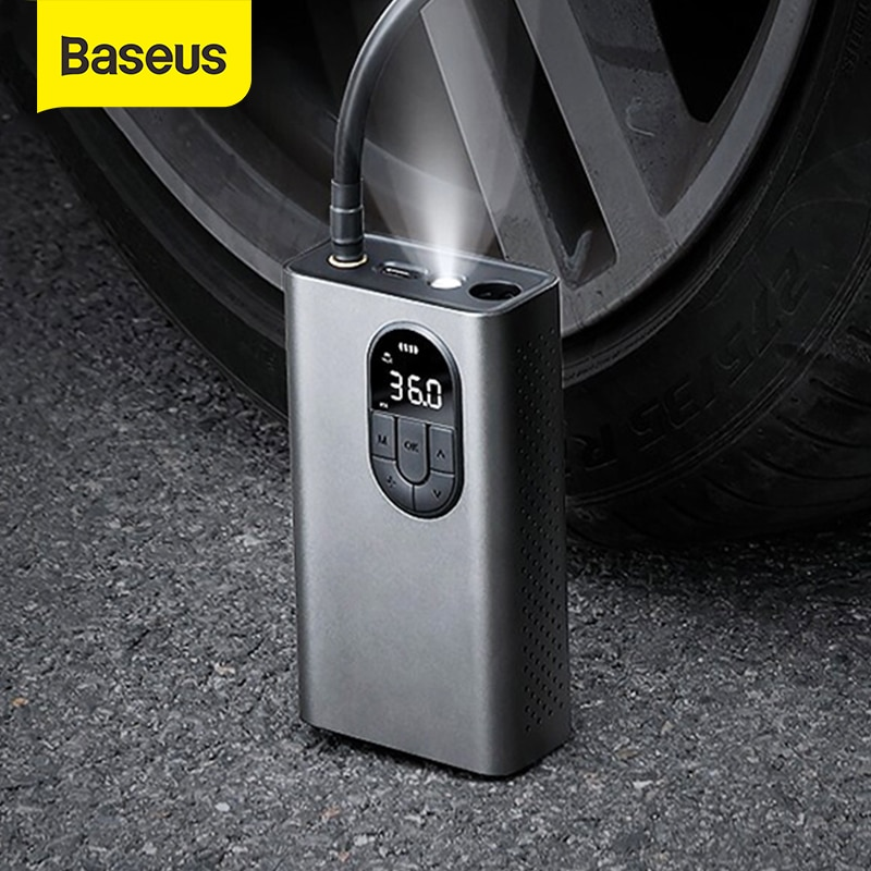 AliExpress - Baseus Car Air Compressor Inflator Pump With LED Lamp For Car Motorcycle Bicycle Tire Inflatable Wireless Electric Air Pump