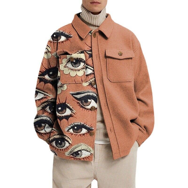 Европейские и американские мужские осенние новые продукты повседневные куртки американские граффити мужские топы Модные Куртки с принтом