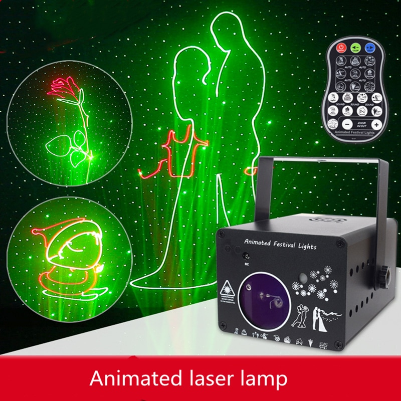 3D Dmx 512 Laser Light Rgb Colorful Projector Line Animation Projection Lamp Bar Family Ktv Flash Buddy Beam Animation Stage Led