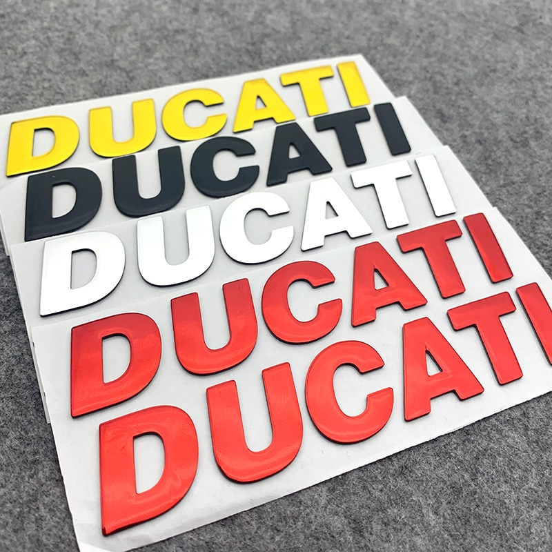 D U C A T I Letters Badge Decal Motorcycle Sticker for DUCATI Car