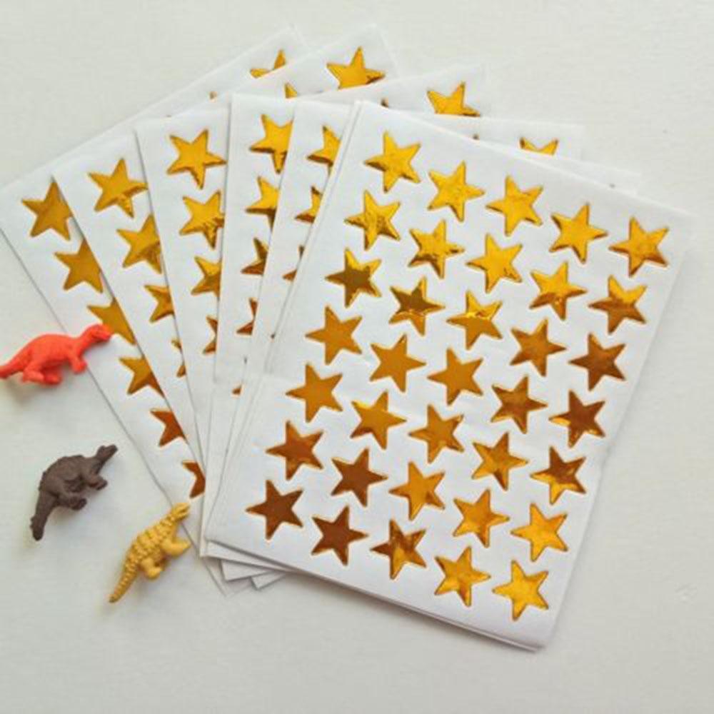 10 unids/pack niños Mini oro recompensas pentagrama pegatina brillante profesor elogios etiqueta Premio estrella de cinco puntas de oro carro