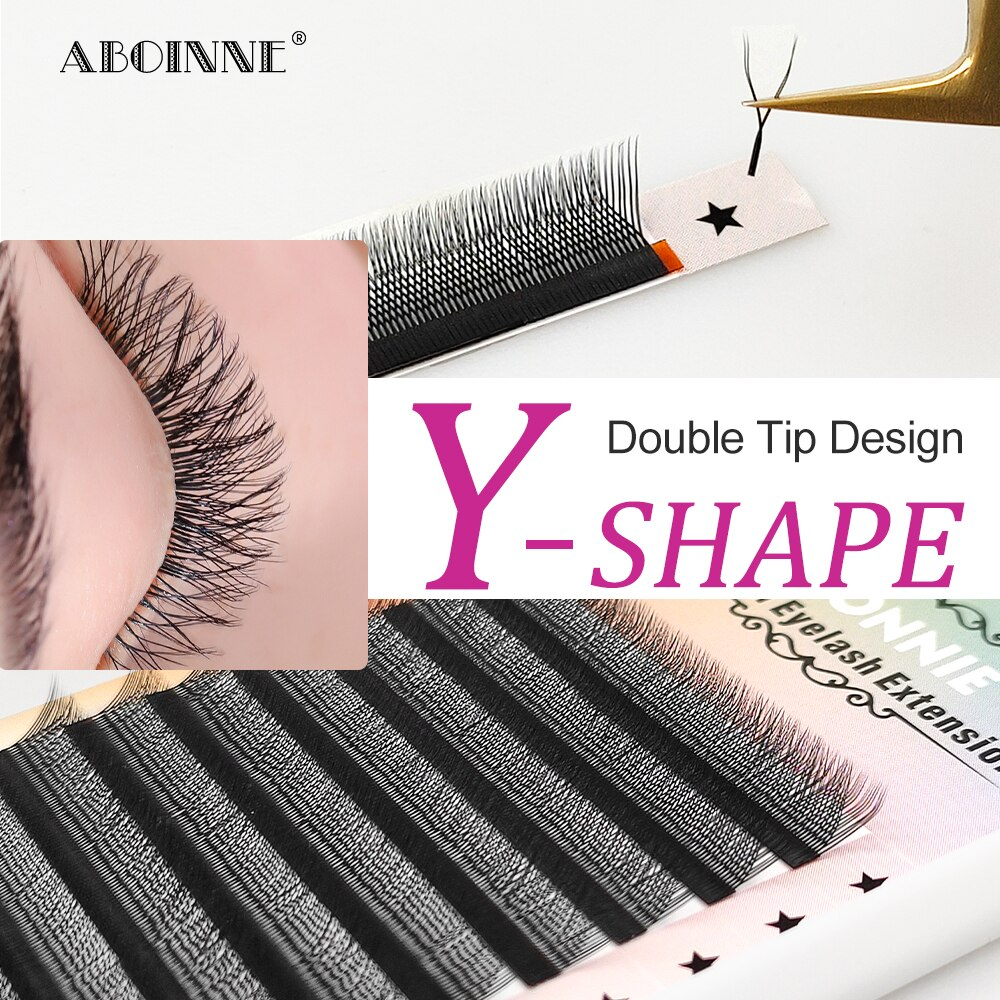 Abonnie YY Private Lash Extension Best Synthetic Lash Extentions Mix Trays Y-Shape Volume Individual