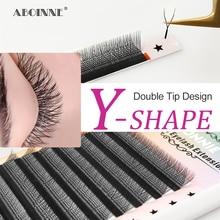 Abonnie  YY Private Lash Extension Best Synthetic Lash Extentions Mix Trays Y-Shape Volume Individua