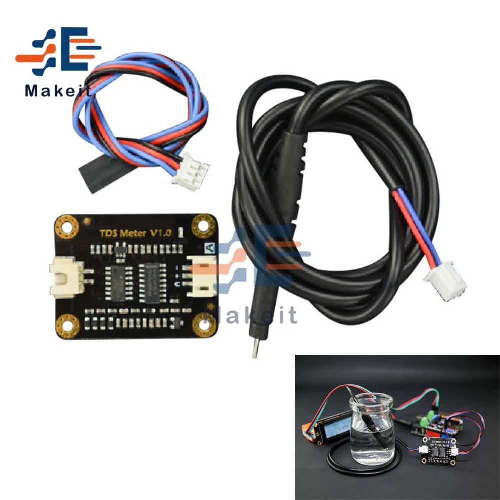 DC 3.3-5.5V Water Conductivity Analog TDS Sensor Module Tester Liquid Detection Water Quality Monitoring Meter for Arduino