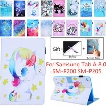 Support pour Samsung Galaxy Tab A 8.0 P200 P205 SM-P200 SM-P205 avec S Pen 2019 8