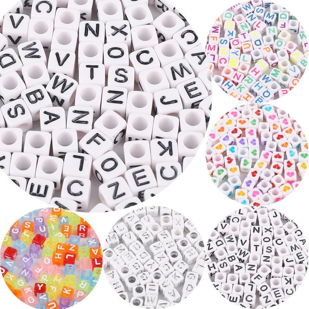 100 sztuk/worek 4mm rozmiar otworu koraliki akrylowe kształty list ręcznie robione koraliki dla dzieci DIY tworzenia biżuterii kralen voor siraden maken cały
