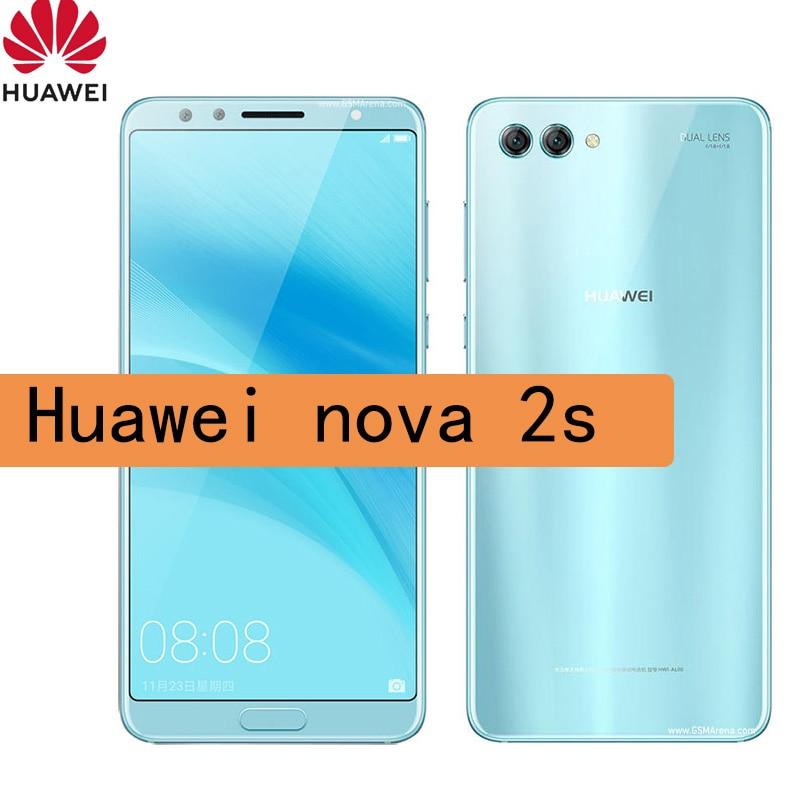 NFC smartphone Huawei Nova 2S celular 2160*1080 20MP Android 8.0 Octa Core Mobile Phone refurbished