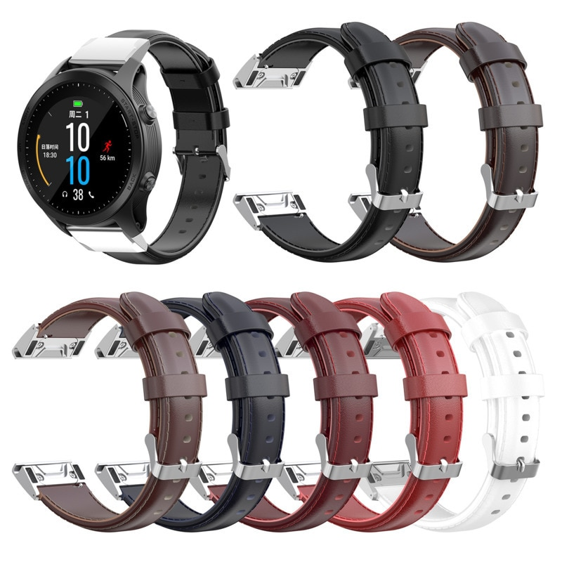 Genuine Leather Strap Placement For Garmin MARQ Series /fenix5/5X/5S/forerunner945 Wristband Accessories 26mm/22mm/20mm 1ew