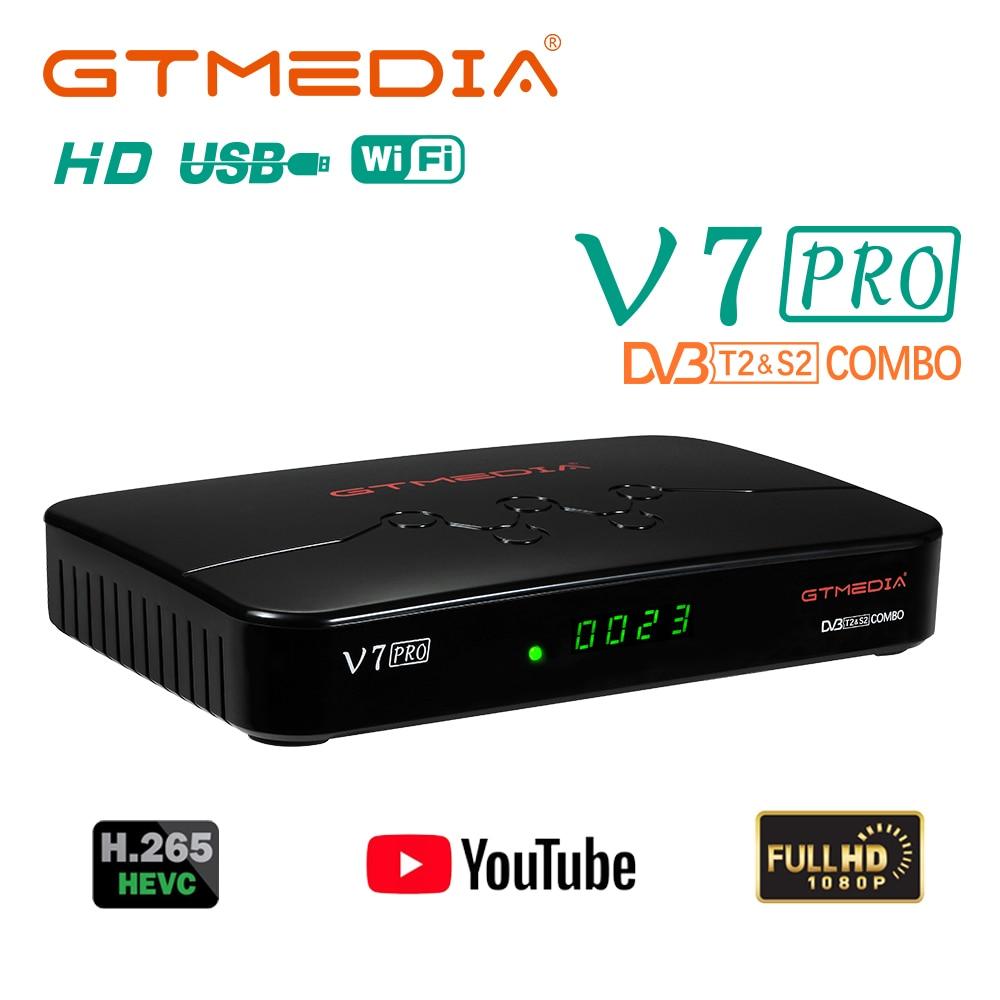 GTMEDIA V7 سلسلة الأقمار الصناعية استقبال صندوق التلفزيون HD فك ccam التكوين التحكم عن بعد للبرازيل اسبانيا