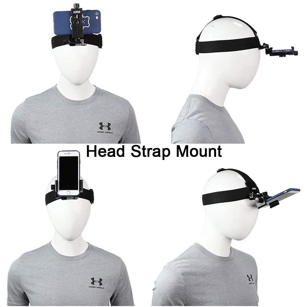 POV/Vlog Smartphone Head Strap Mount Selfie Neck Holder Mount Kit,for iPhone Samsung Phone GoPro Hero 9 DJI Osmo Action Camera