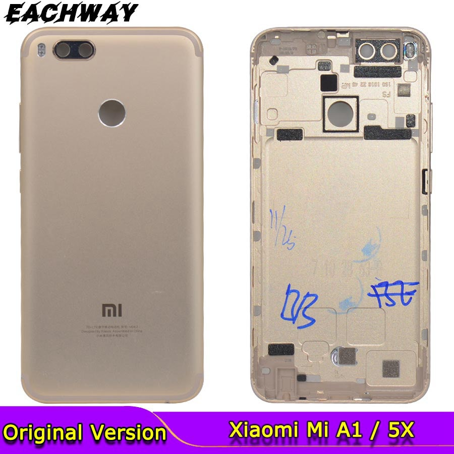 for Xiaomi Mi A1 Battery Cover Rear Door Back Housing Case For 5X With Power Volume Button Replace