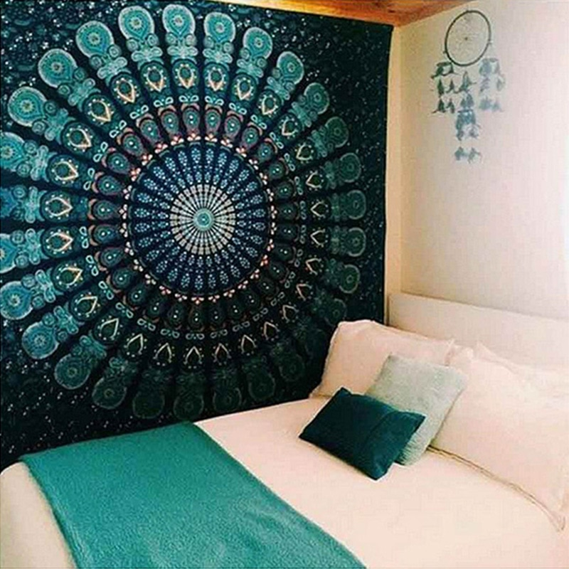 Nueva llegada tapiz indio serie de Mandala tapiz colgante de pared Fondo bohemio paño Toalla de playa tap72