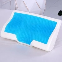 dish shaped gel pillow memory foam gel summer ice cool anti snore slow rebound sleep orthopedic soft health care neck home pillo