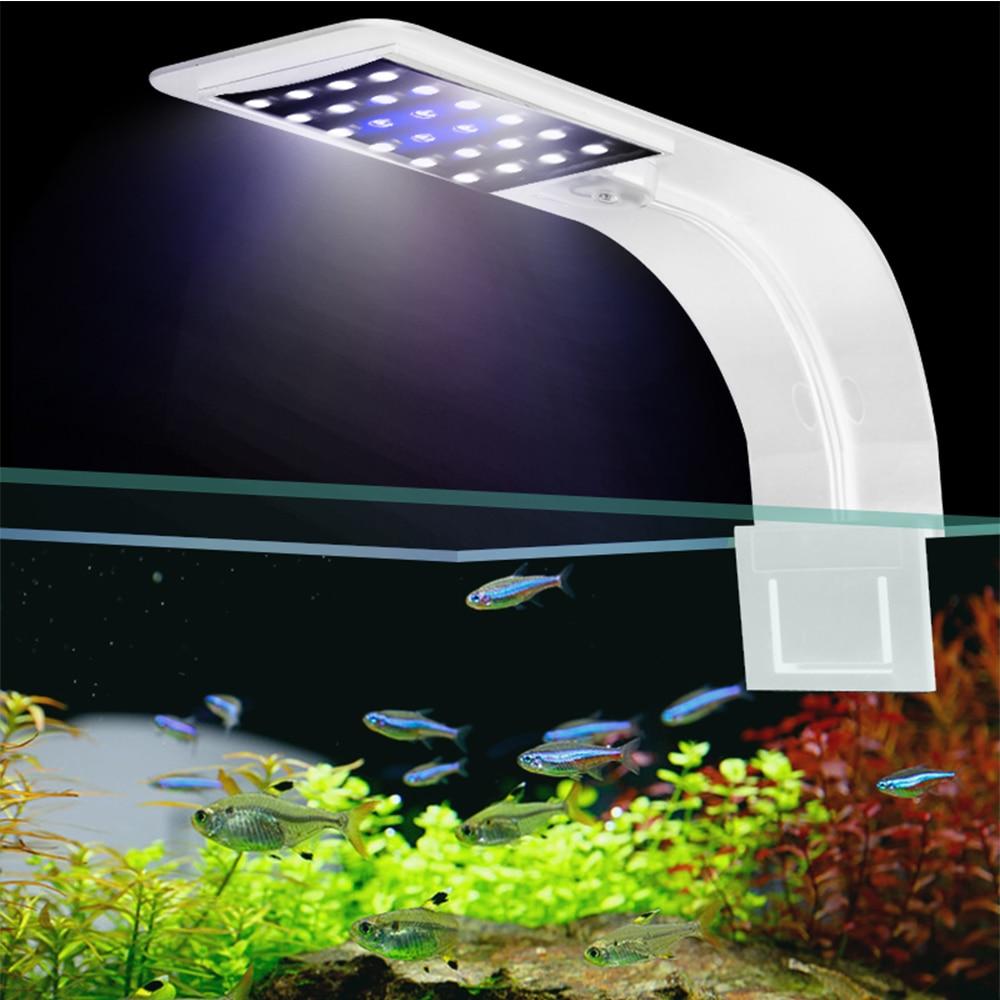 Super Slim 5W/10W/15W Aquarium LED Lighting Clip on Double Lamp Fresh Water Plants Grow Light LED Aquarium for Nano Fish Tanks