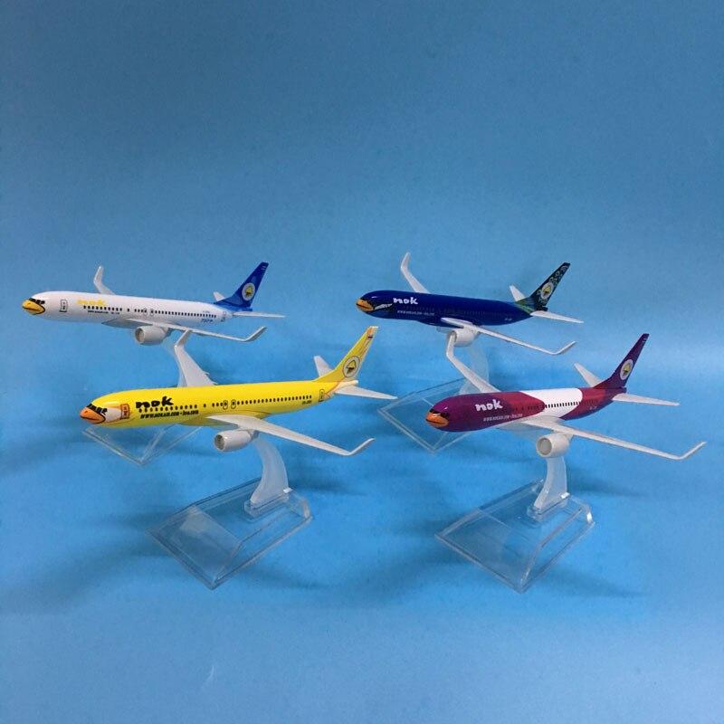 Envío Gratis, 16 CM, 737, NOKAIR, pájaros voladores, modelo de aleación de METAL, avión, modelo de avión juguete, avión, regalo de cumpleaños, juguetes para niños