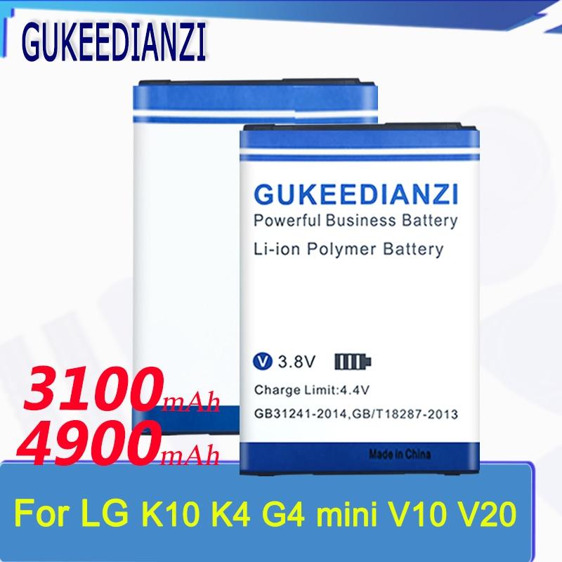 Batería GUKEEDIANZI, BL-45A1H para LG K10, versión 2017, LG V10 V20 G4mini, batería de repuesto BL-46G1F BL-44E1F BL-45B1F