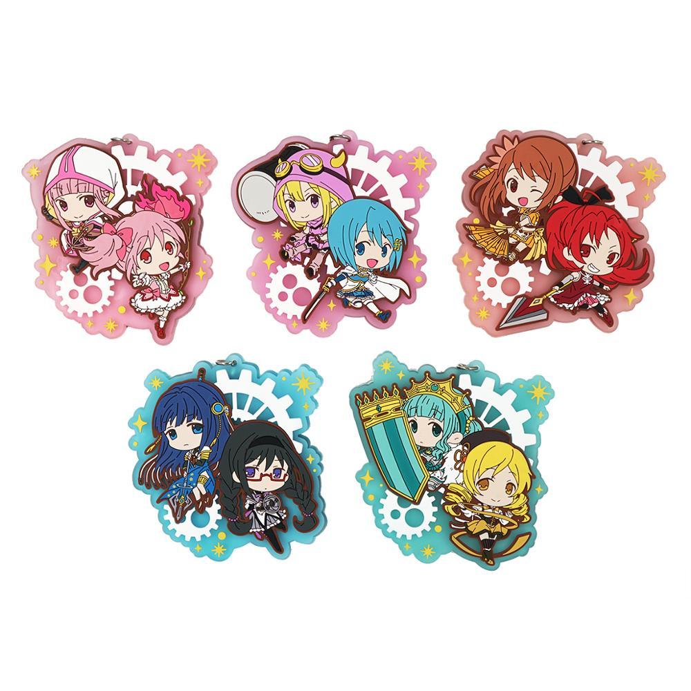 Magia Record Game Madoka Magica Anime Kaname Madoka Sakura Kyouko Yachiyo Iroha Karin Masara Ren Magical Girl Rubber Keychain
