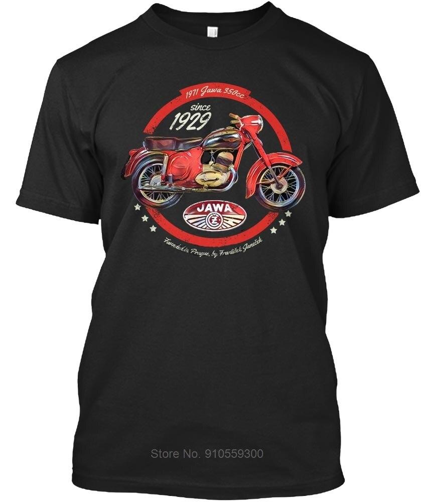 Hommes t-shirt Jawa 350cc moto vintage cadeau chemise t-shirts coton t-shirt hommes été mode t-shirt taille européenne