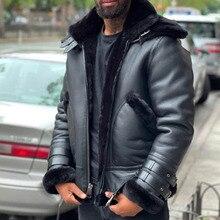 Leather Jacket Leather Jacket 2021 Autumn Winter Fashion Casual Zipper Plus Velvet Thicken Warm Long