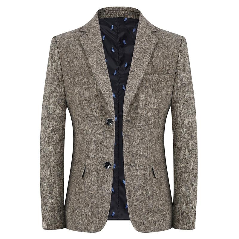 Модный брендовый мужской костюм, куртки, весна-осень, новый мужской деловой повседневный костюм, горячая Распродажа, однобортный приталенн...