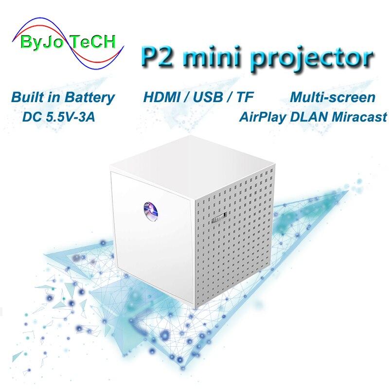 ByJoTech-miniproyector portátil P2, DLP, HD, 1080P, para cine en casa, compatible con...