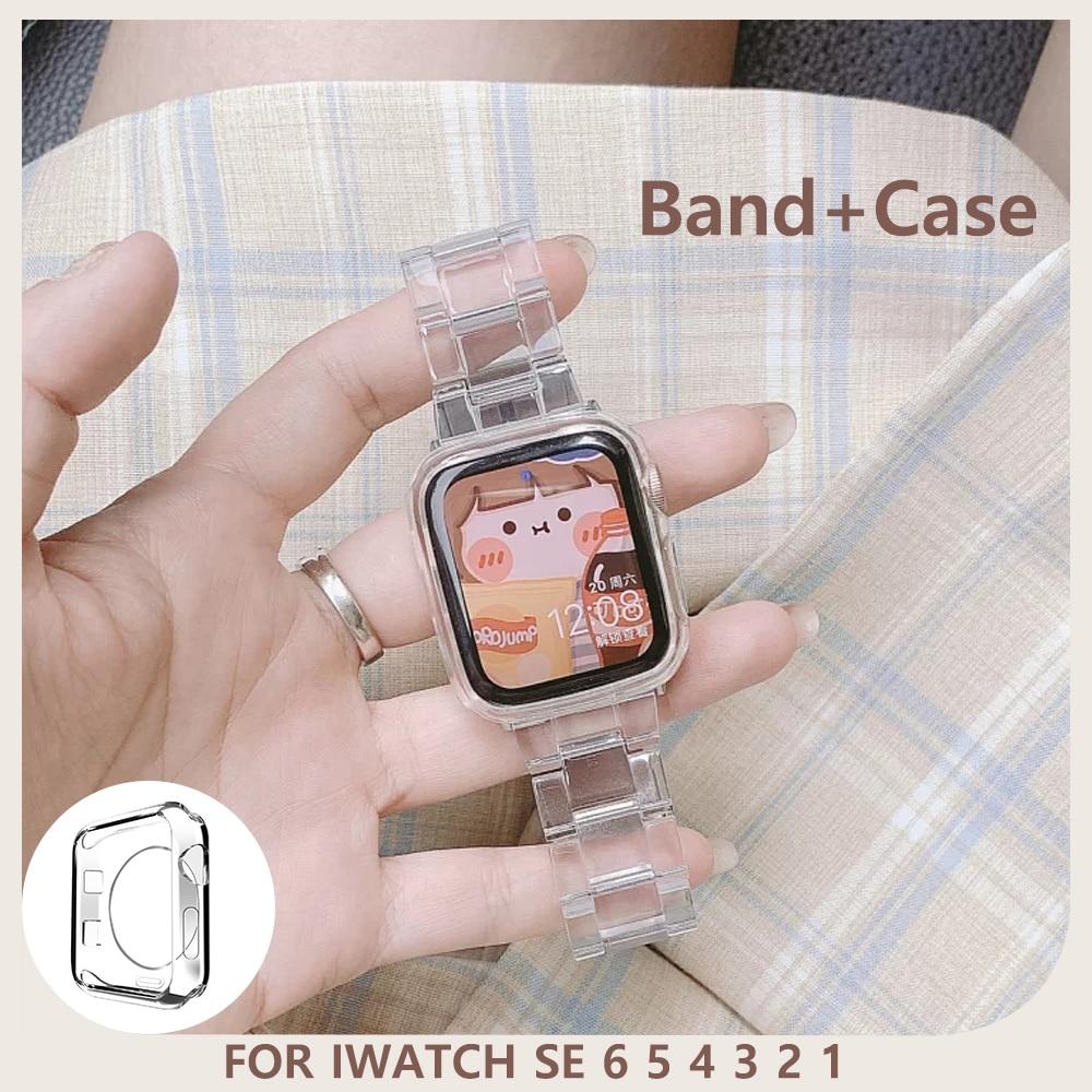 Прозрачный ремешок для часов Apple Watch SE 6, зеркальное стекло, ремешок для смарт-часов серии 6, 5, 4, 32, 38 мм, 40 мм, 42 мм, 44 мм ремешок для смарт часов eva ava001 для apple watch 38 мм розовый