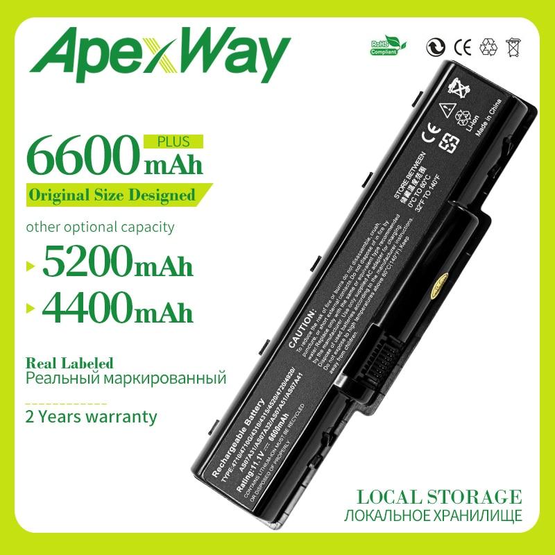 Apexway nueva batería del ordenador portátil de 6 células para Acer Aspire 5536G 5735Z 5737Z 5738DG 5738G 5738Z 5738ZG 5740DG 5740G 4315 AS07A31 MS2219