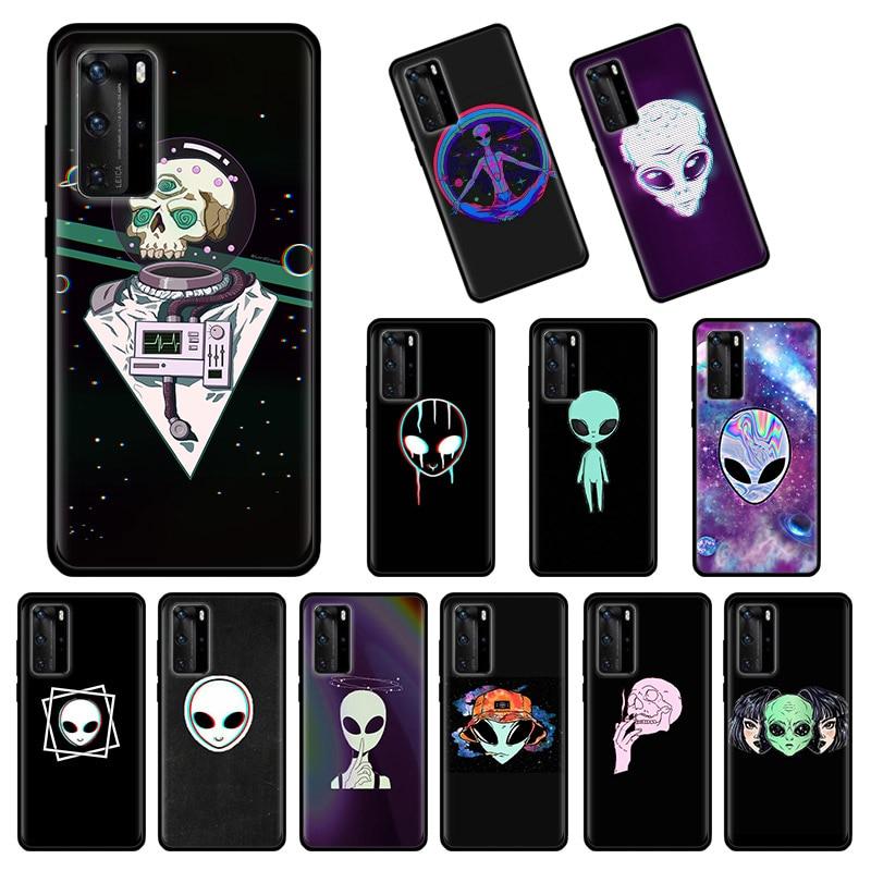 Alienígena creer UFO ET suave lindo caso de Huawei P40 P30 P20 P10 Lite P10 P30 P40 Plus P Smart Plus 2019 Z 2020 cubierta Capa