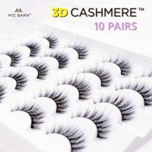 MIZ BARN 10 Pairs 3D CASHMERE False Eyes Lash Fan Eyelashes Eyelash Set Professional Makeup Natural