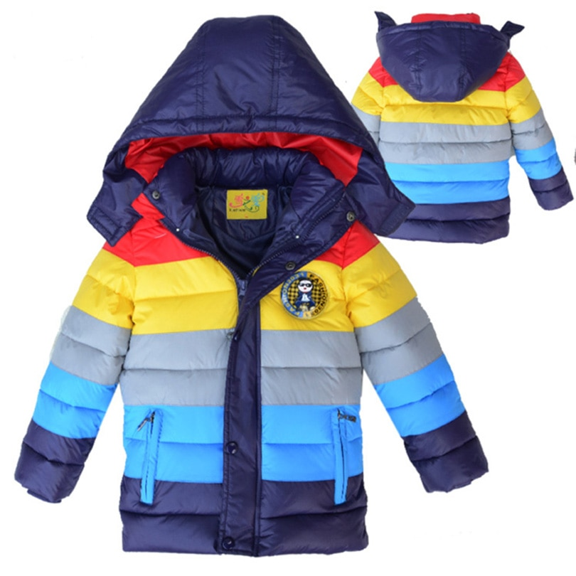 winter clothing children s clothing boys and girls 2 pieces set children s suits keep warm jackets and pants kids clothes New Ship from Winter Children Jackets Boys Girls warm Down Coat Kids Outerwear Coats Stripe Clothing For Baby warm clothes 5