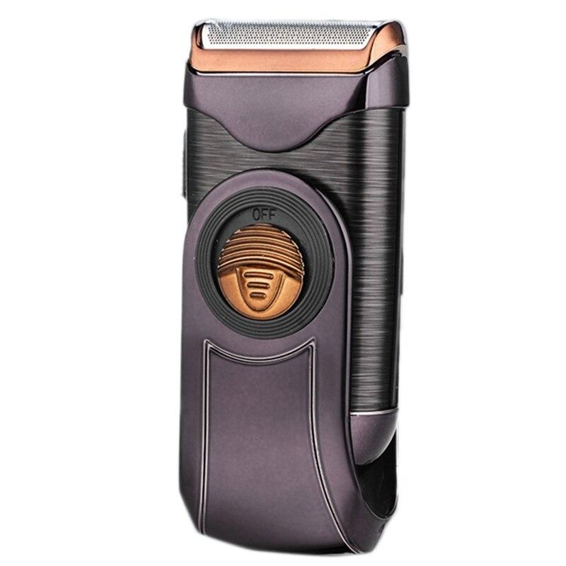 barbeador eletrico portatil mini aparador de barba molhado e seco corte alternativo