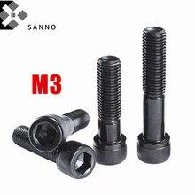 50 Uds DIN912 M3x8 - M3x50 tornillos de cabeza hexagonal de alta resistencia tornillos hexagonales externos de acero de grado 12,9