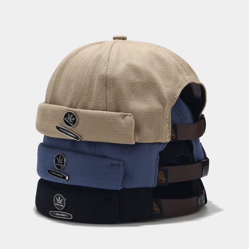 Nuevo sombrero creativo de piel de melón sin adornos, sombrero hipster masculino de calle, sombrero de arrendador de hip-hop, sombrero rogue sailor ya pi para mujer