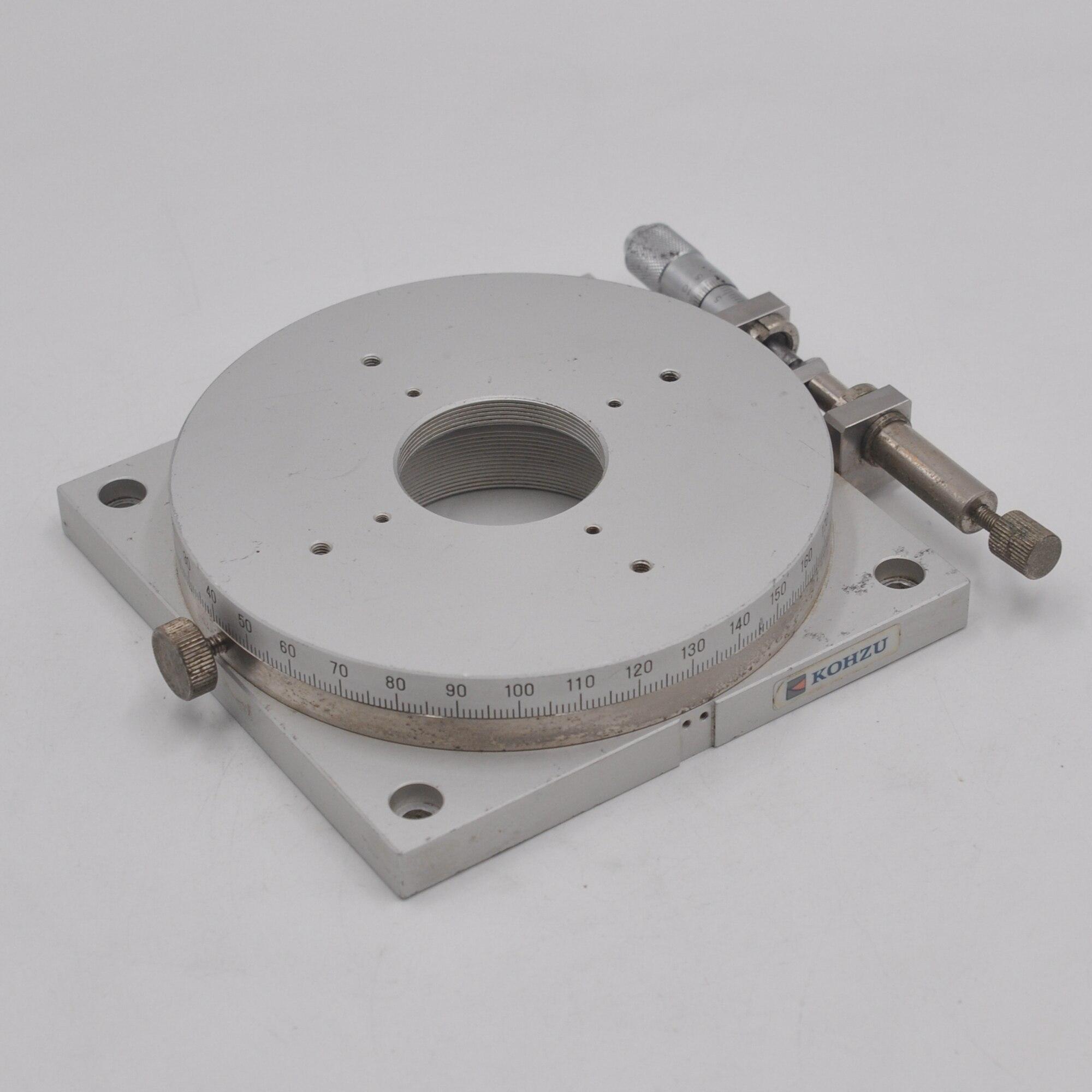 Japan KOHZU RM13A-C1 ultra-precision fine-tuning rotating 360 ° slide aluminum alloy