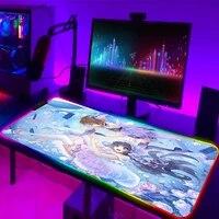 rgb cardcaptor sakura mouse pad large gamer pc computer keyboard rubber 900x400 desk mat lol carpet gaming accessories mousepad