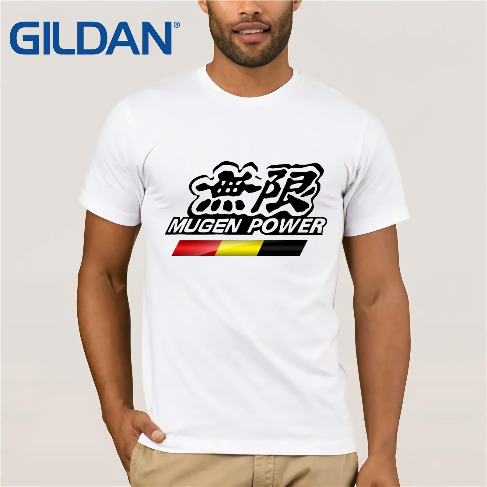 Nieuwe Mugen Power Jazz Tuning Racinger Auto Logo mannen Wit T-Shirt S-3XL Gepersonaliseerde T-shirt Custom T-shirt