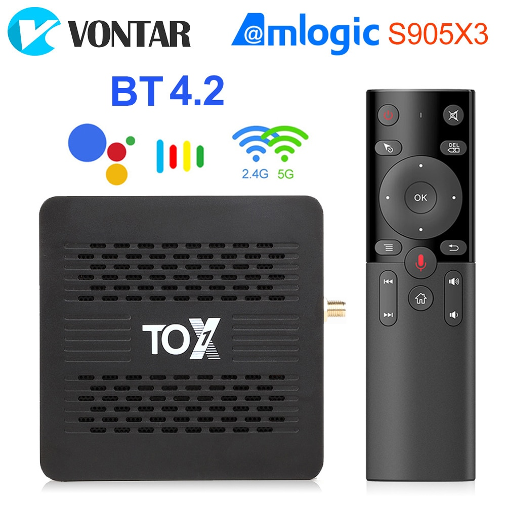TOX1 Android Tv Box 9 Smart Tv box 4GB 32GB Amlogic S905X3 Dual Wifi 1000M BT4.2 4K Media Player Sup