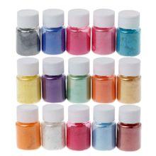 15 Colors Mica Powder Epoxy Resin Dye Pearl Pigment Natural Mica Mineral Powder Q6PA