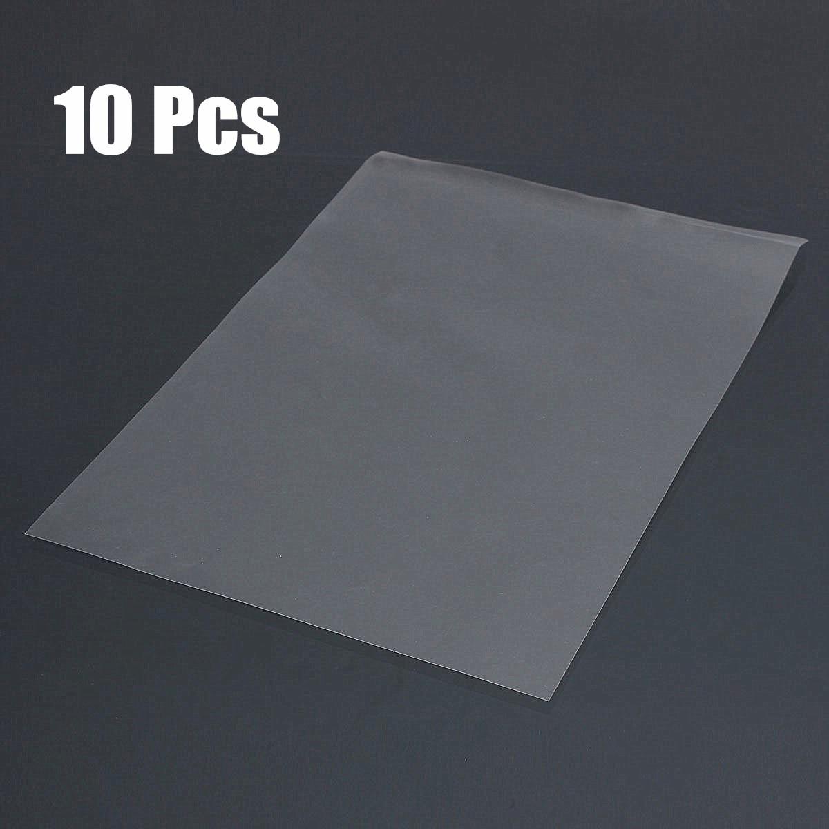 Papel de película transparente A4 de 10 piezas para impresora láser de inyección de tinta, Impresión de pantalla PCB DIY