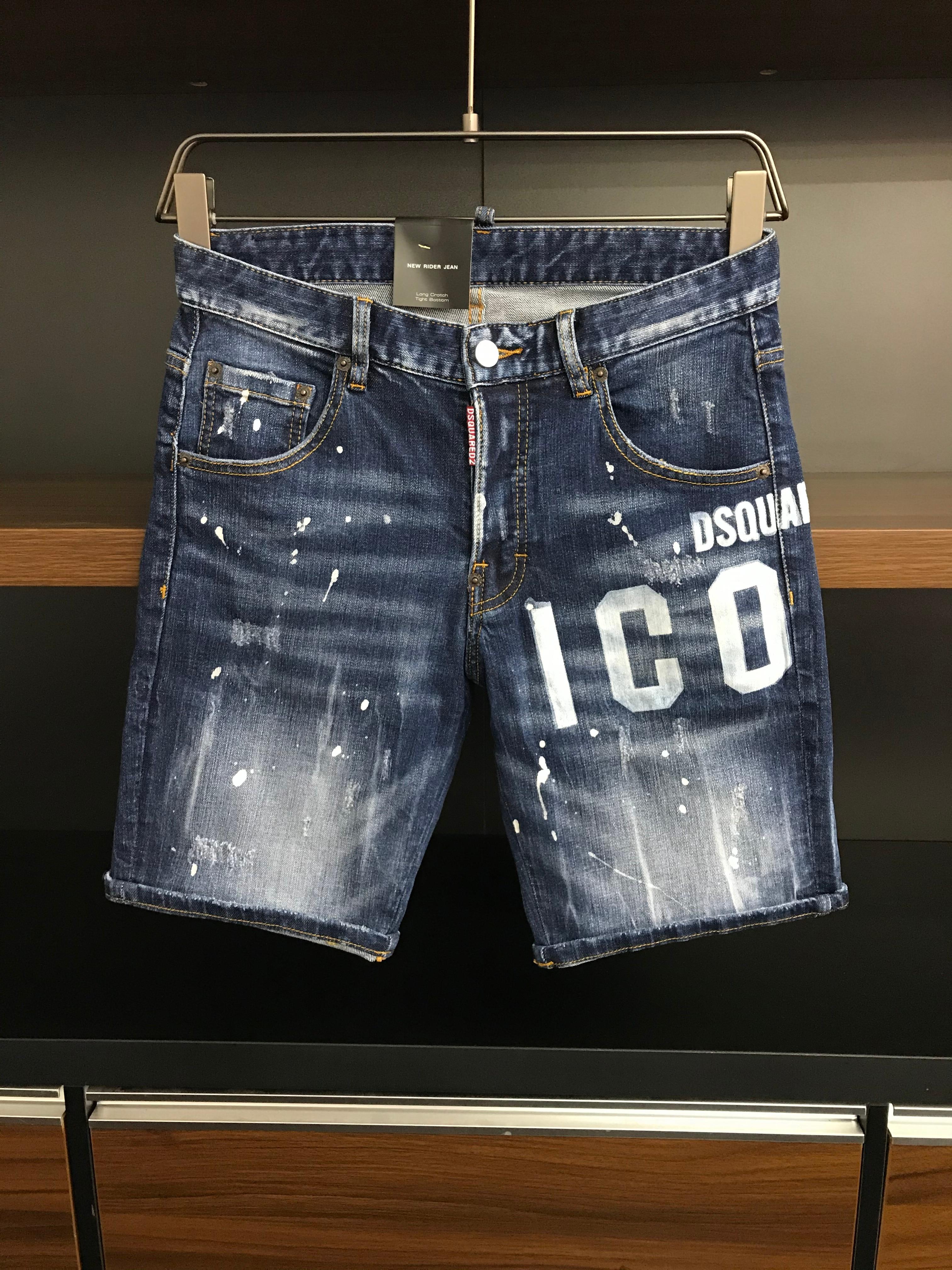 الصيف الهيب هوب 2021 الرجال ممزق جينز D2 السائق نحيل السراويل الجينز الذكور سليم صالح جينز غير رسمي الرجال السراويل حجم 28-38