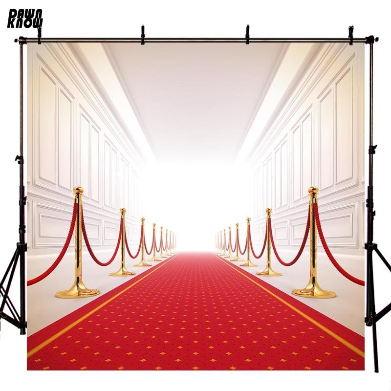 Fondo de fotografía de alfombra roja de daynknow fondo de fotografía de fiesta interior ligero para sesión fotográfica de niños lv1942
