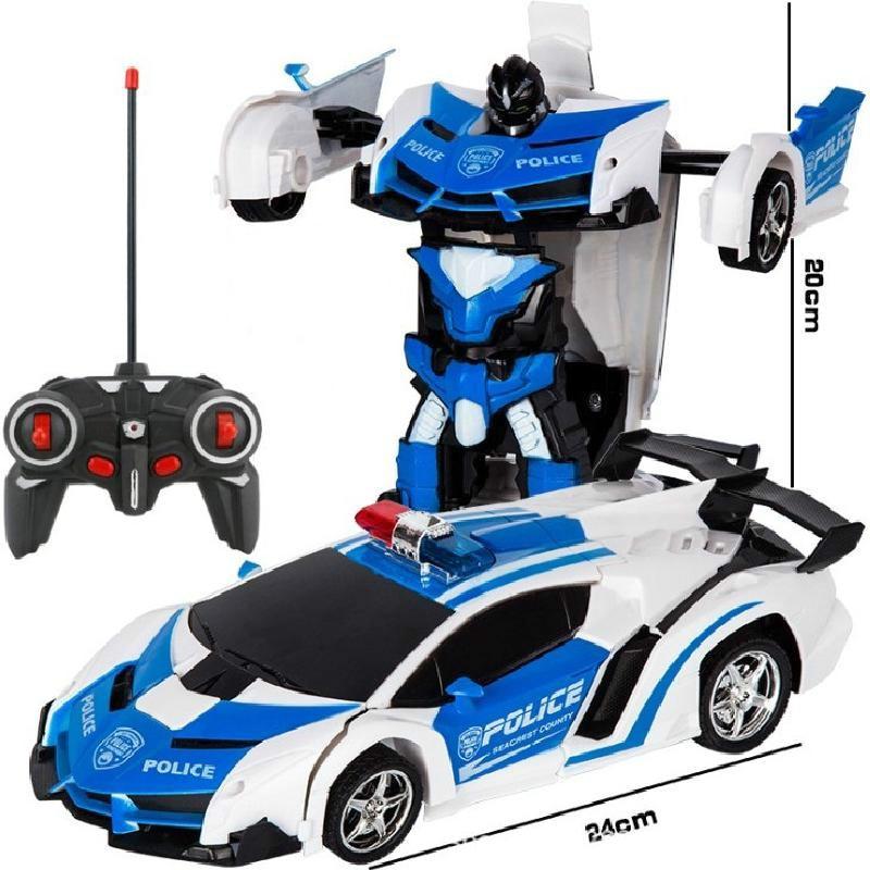 1:18 Rc مشوه سيارة 2 في 1 جهاز روبوت للتحكم عن بعد التحول روبوت نموذج التحكم عن بعد سيارة معركة لعبة هدية صبي عيد ميلاد لعبة