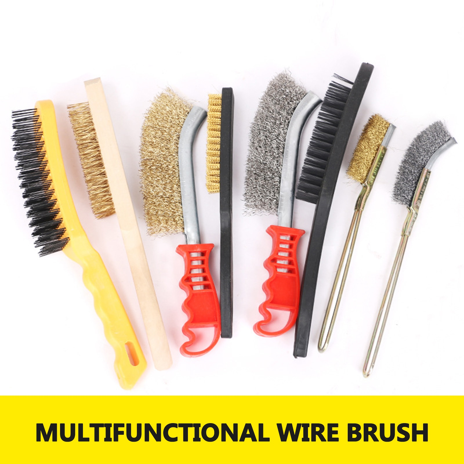 wire bowl type machinery brush cutter durable nylon wire weeding brush wire trimmer head brush tools Steel Wire Brush Barbecue Cleaning Stainless Steel Wire Iron Brush Small Steel Copper Brush Derusting Brushsteel Wire Brush