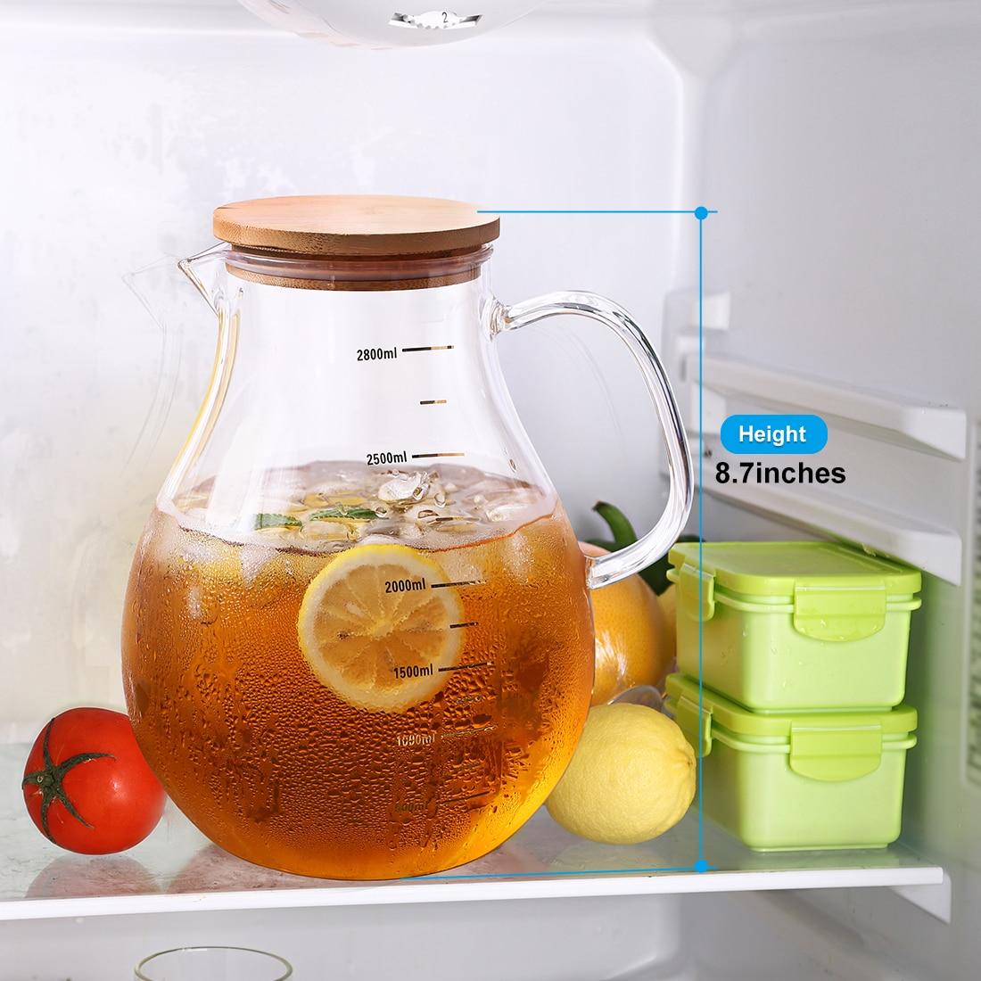 Transparent Borosilicate Glass Teapot  Bottle Portable Heat-Resistant Large Clear Tea Pot Sets Puer