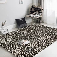 fashion european and american leopard print rug bedroom bed living room sofa tapis kitchen bathroom non slip mat ins carpet